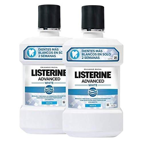 chollos oferta descuentos barato Listerine Enjuague Bucal Blanqueador Avanzado 2 x 1000 ml 2 Unidades 2060 g