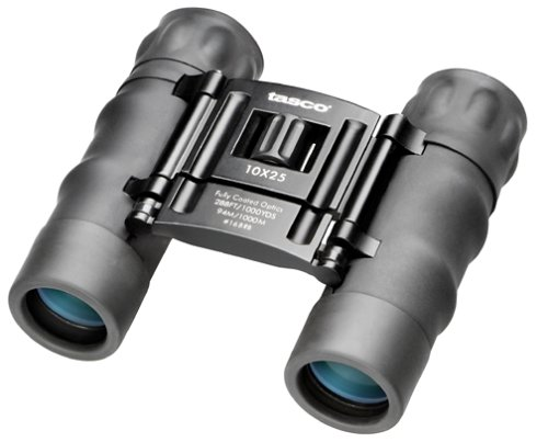 Tasco Essentials 12x 25mm Roof Prism Compact Binocular (Black)