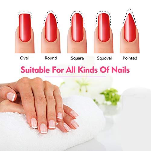 Nail Files and Buffers, PHOEBE Professional Manicure Pedicure Tool Kit, 6pcs Sanding Buffer Block 6pcs Double Sided Emery Board 100/180 Grit Nail Files and 2pcs 7 Ways Buffer