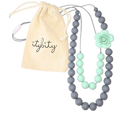 Baby Teething Necklace Silicone Beads product image