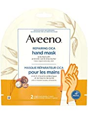 Aveeno Repairing CICA Hand Mask with Prebiotic Oat and Shea Butter, Dry Skin Moisturizer, 2 Single Use Gloves (1 pair) 40 grams
