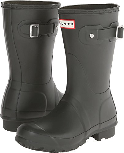Hunter Womens Original Short Dark Olive Rain Boot - 7 B(M) US