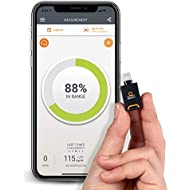 Dario LC Blood Glucose Monitor Kit for iPhone - Test Your Blood Sugar Levels and Estimate A1c. Kit Includes: Glucometer with 25 Strips,10 Sterile lancets and 10 Disposable Covers