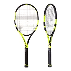 The Babolat Pure Aero VS Tour Tennis Racquet is a heavier version of the Pure Aero VS that features a little more plow through. Babolat designed the Pure Aero VS Tour with control and spin in mind. Babolat's Woofer grommet system is highlight...