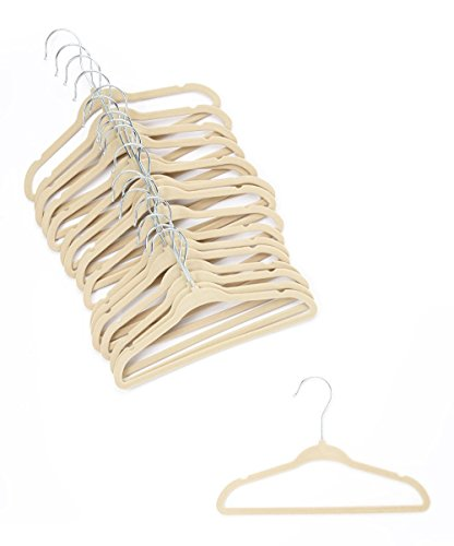 Home-it 30 PACK baby hangers Ivory baby Clothes Hangers Velvet Hangers use for skirt hangers Clothes Hanger pants hangers Ultra Thin No Slip kids hangers