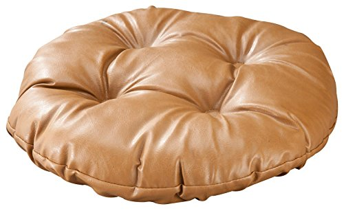 WalterDrake Faux Leather Bar Stool Cushion (Tufted Leather Bar Stool)