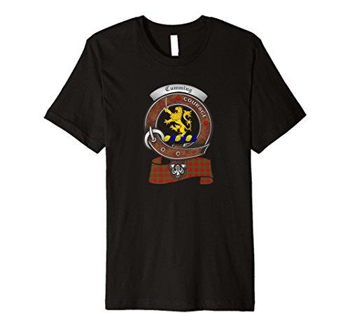 Clan Cumming Shop (Cumming Scottish Clan Badge T-Shirt with Tartan)