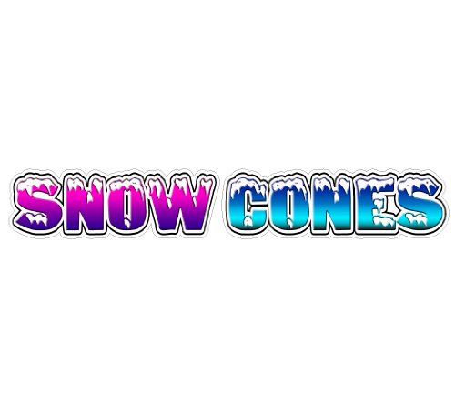 """SignMission 12"""", Snow Cones from SignMission"""