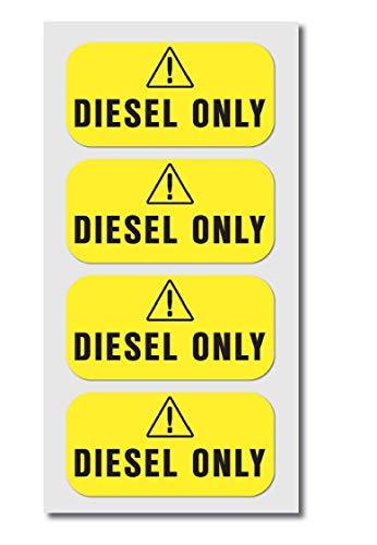 Diesel ONLY Fuel Sticker Decal - 4 Pack - 2