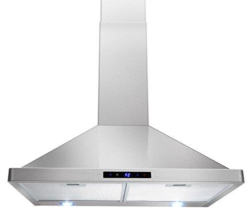 akdy 30 kitchen wall mount stainless steel touch panel control range hood az63175s stove vents. Interior Design Ideas. Home Design Ideas