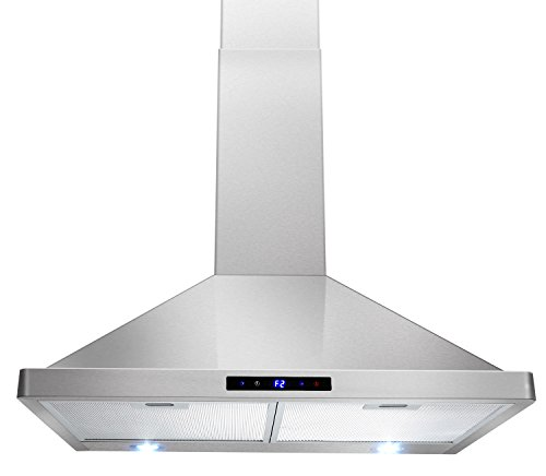 "AKDY 30"" Kitchen Wall Mount Stainless Steel Touch Panel Control Range Hood Stove Vents"