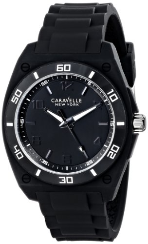 Caravelle New York by Bulova Men's 43A127 Analog Display Japanese Quartz Black Watch