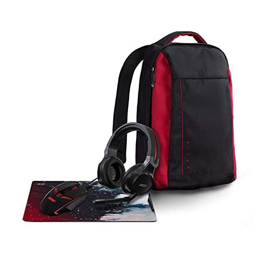 Acer Nitro Gaming 4-in-1 Accessory Bundle (Backpack, Headset, Mouse and Mousepad)