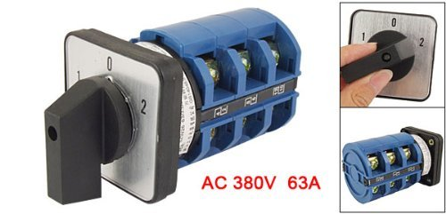 eDealMax AC 380V 63 Amp 12 Terminal On/Off / on Rotary universale camme