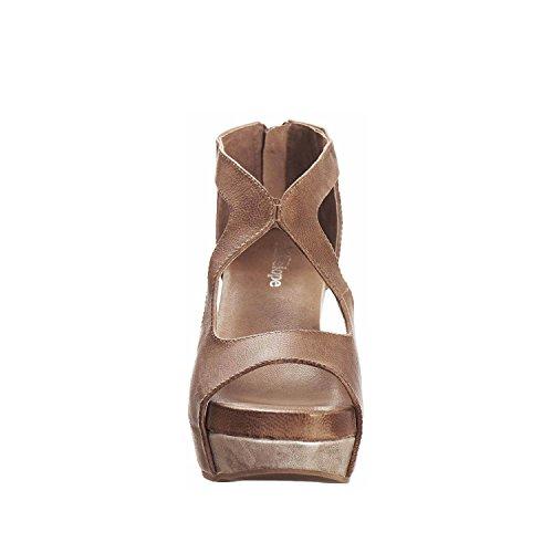 Antilop Kvinna 943 Läder Botten Wrap Utklipp Sandaler Taupe