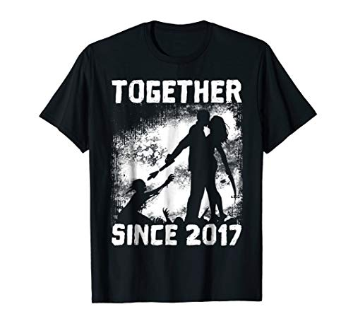 Together Since 2017 - Halloween Shirt For Anniversary