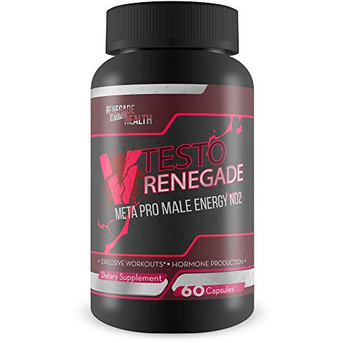 V Testo Renegade Meta Pro – Male Energy – N02 Pills – Help Natural testo Production and Workout Performance with This Nitric Oxide Booster Male Energy Hybrid Formula – Made to Boost Energy and testo