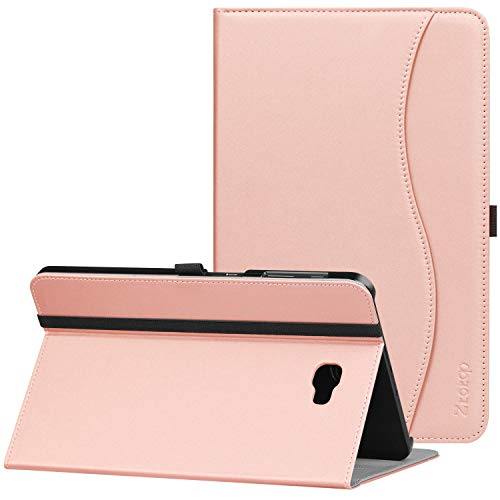 Ztotop Case for Samsung Galaxy Tab A 10.1(2016 NO S Pen Version) - Leather Folio Cover for Samsung 10.1 Inch Tablet SM-T580 T585 with Auto Wake/Sleep and Card Slots, Multiple Viewing Angles,Rose Gold
