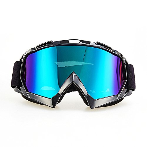 Motorcycle Goggles, CarBoss Anti UV Safety Eye Protection Anti-Scratch Dustproof Motocross Motorbike Goggle Great Idea for Snow Skiing, Cycling, Climbing, Riding & Outdoor Sports Eyewear Colorful - For Get Made Frames Lenses