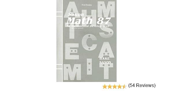 Workbook finding percent worksheets : Amazon.com: Saxon Math 87: An Incremental Development (Test Forms ...