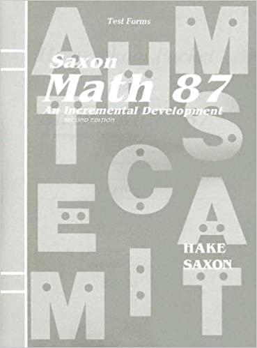 Amazon saxon math 87 an incremental development test forms saxon math 87 an incremental development test forms 2nd edition fandeluxe Gallery