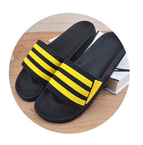 Log SWIT Male Summer Extra Cool Slippers Indoor Non-Slip Bathroom Slippers Outdoor Beach SandalsYellow9.5