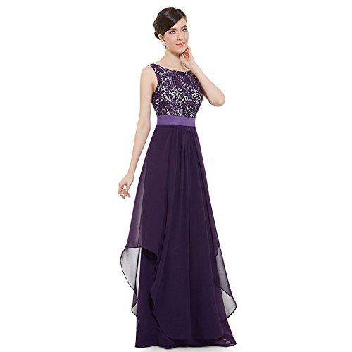 WintCO Vestidos Elegantes de Noche para Mujeres Vestidos largos sin Espalda para Fiestas Morado