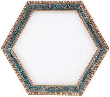 三次元の装飾リビングルームドレッシングテーブルミラー、浴室の壁ハンギングメイク JZ02/22 (Color : Hexagon