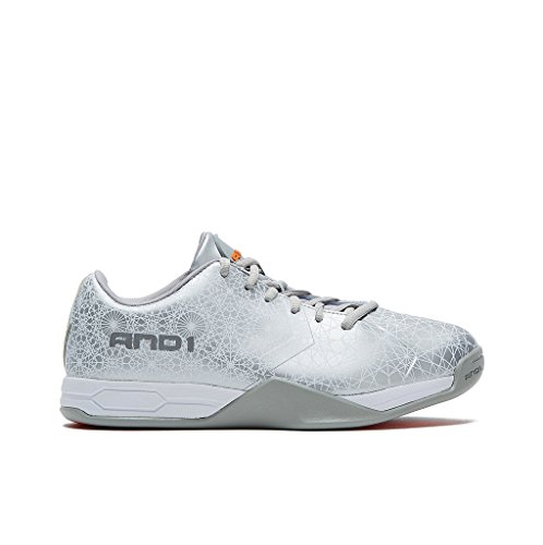 AND1 Mens Mirage Basketballschuh Silber
