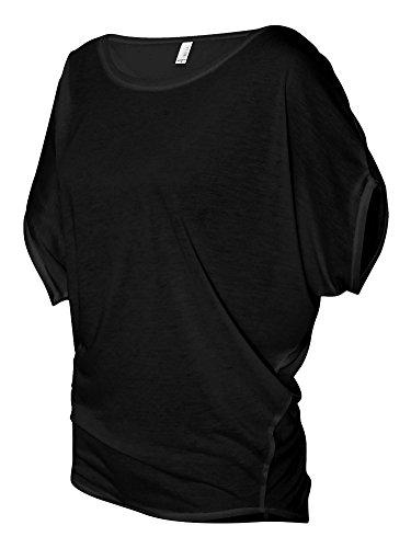 Bella - Ladies' Flowy Rage Sleeve Dolman T-shirt, Midnight ()