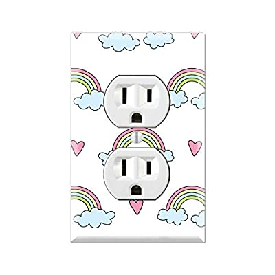 RAINBOW Light Switch Cover Wall Plate, RAINBOW Graphics Wallplate, Outlet Cover, Single Toggle, Single Rocker, Outlet Cover, Gift for Rainbow Lover, RAINBOW Room Decor, RAINBOW Wall Plate Cover TF104: Handmade