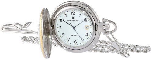 Charles-Hubert, Paris Two-Tone Quartz Pocket Watch