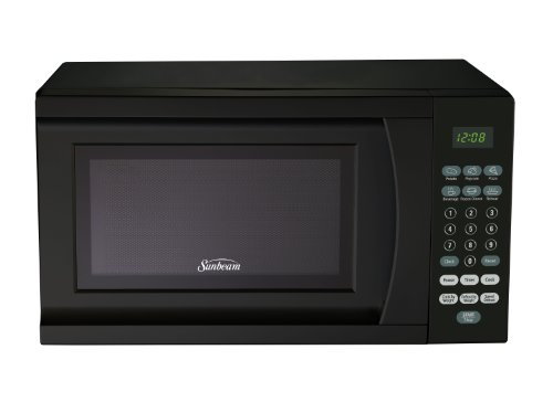 Sunbeam SGS90701B-B 0.7-Cubic Foot Microwave Oven, Black (Small Black Microwave Oven compare prices)