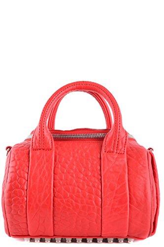 Bolso Cuero Rojo Mujer Mano De Wang MCBI335019O Alexander qwXavBItn
