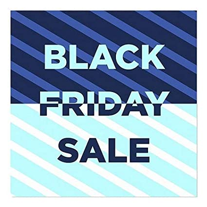 24x24 CGSignLab 5-Pack Stripes Blue Window Cling Black Friday Sale