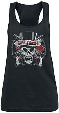 Guns N' Roses Top Hat Skull Top Mujer Negro S