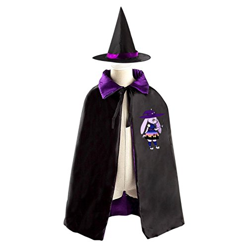 Pretty Magical Rabbit Witch Kids' Fancy Cosplay Cloak with Witch Hat for (Midsummer Night's Dream Party Costume)