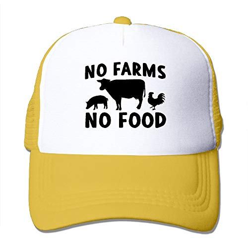 OKMBGNFH8 Unisex No Farms No Food-1 Two Tone Trucker Hat Mesh Back Cap - The Great Outdoors