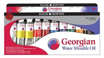 Daler Rowney : Georgian Water Mixable Oil Starter Set : 10 x 37ml from DALER-ROWNEY/FILA CO