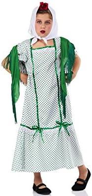 Disfraz de Chulapa Madrileña Verde para niña: Amazon.es: Juguetes y juegos