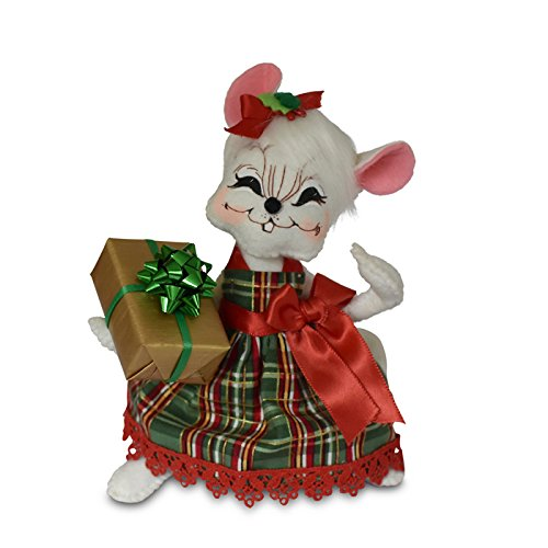 Annalee - 6in Plaid Tidings Gift Girl Mouse