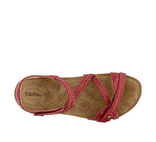 Taos Kvinders Ziggie Læder Sandal Rød Slange D4pQs