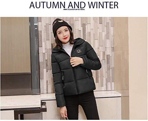 Trapuntato Fashion Manica Outwear Eleganti Invernali Fit Lunga Caldo Outdoor Grazioso Incappucciato Cappotto Schwarz Slim Addensare Piumino Trapuntata Giacca Donna 7qpwzTwC
