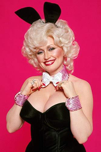 - Dolly Parton Playboy Bunny 8 x 10 Metal Aluminum Tin Gloss Sign