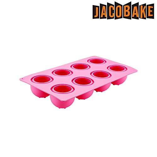 Jacobake 8-Cavity Ball Shape Silicone Mold - Easy Baking Tools for Mousse Cake Chocolate Dessert Ice Cream Bombes - Nonstick & Easy Release - BPA free Food Grade Silicone by Jacobake (Image #1)