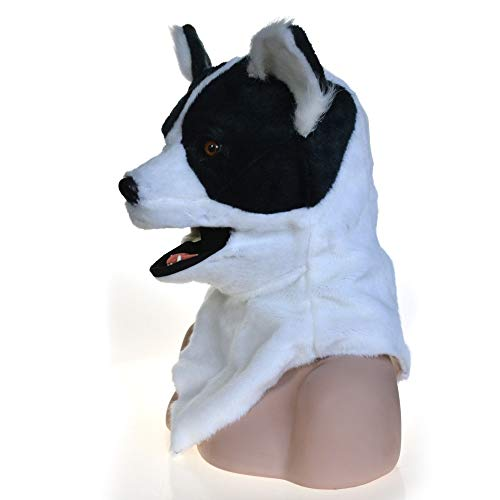 XIANGBAO-Toys Full Head Animal Moving Mouth Cosplay Carnival Costume Dog Bleach Anime Masks for Sale Toys&Gams (Color : White, Size : 2525) -