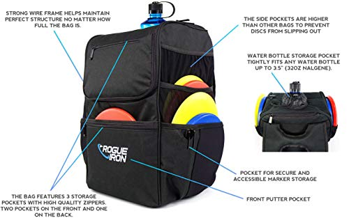 Rogue Iron Disk Golf Backpack & Cooler (Black) by Rogue Iron Sports (Image #1)