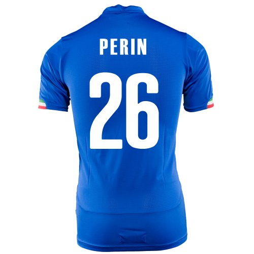 の配列勉強する勤勉PUMA PERIN #26 ITALY HOME JERSEY WORLD CUP 2014/サッカーユニフォーム イタリア代表 ホーム用 ワールドカップ2014 背番号26 ペリン