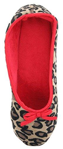 SlumberzzZ - Zapatillas de estar por casa de sintético para mujer rojo - rojo