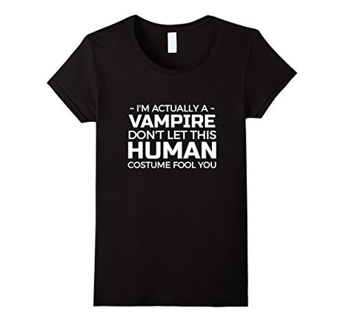 For Vampire A Costumes Ideas (Womens Halloween Vampire T shirt - Halloween costume TShirt Small)